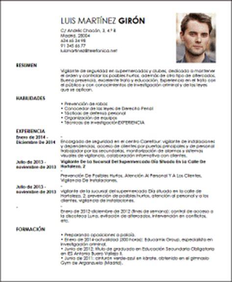 Modelo De Curriculum Vitae Para Vigilante De Seguridad Modelo Cv Oficial De Vigilancia Livecareer