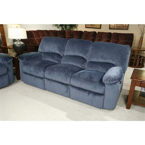 blue reclining sofa blue reclining sofa wayfair custom upholstery tricia