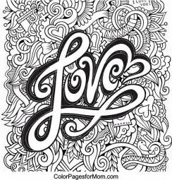 hearts doodle coloring pages