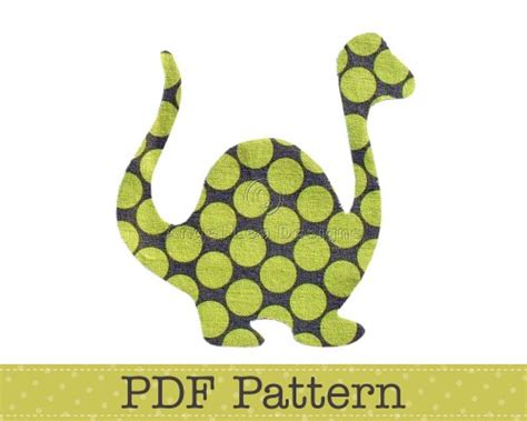 dinosaur applique pattern pdf template applique designs