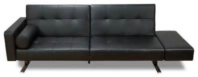 marvelli black faux leather futon modern sleeper sofas
