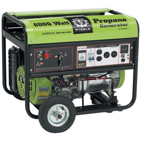 propane powered steel 174 products 6 000 watt generator
