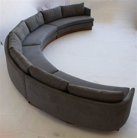 semi circular couch custom semi circular sectional by carson s of north