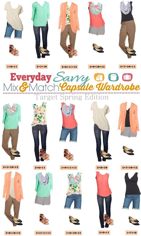Mix And Match 4 target capsule wardrobe mix match with chevron