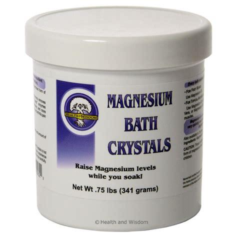 health wisdom magnesium bath crystals 1 75 lbs spirit of health and wisdom magnesium bath crystals 519