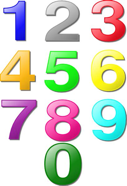 numbers clipart colorful numbers clip at clker vector clip