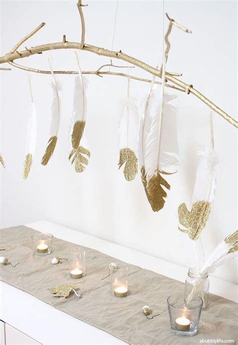 Diy Feather Chandelier Diy Glitter Feathers Branch Chandelier Branch Chandelier And Chandeliers