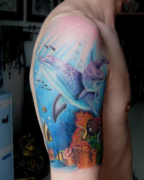 dolphin tattoo meaning dolphin the meaning of arm saratattooimages