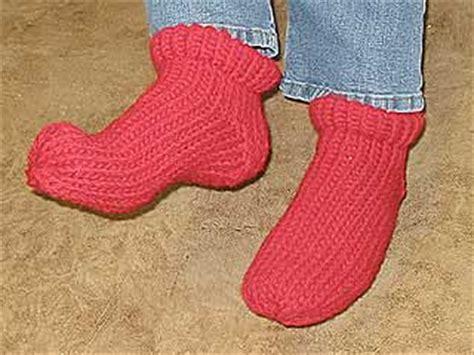 ravelry: slipper socks on the knifty knitter loom pattern