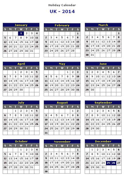 2014 calendar template uk uk 2014 printable calendar 171 printable hub