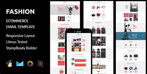 Fashion Ecommerce Responsive Email Template Stready Builder By Guiwidgets Yahoo Ecommerce Website Templates