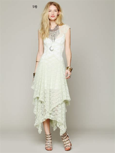 Cowgirl Gypsy Dress Tiered Lace Cap Sleeve Western Dress   Always About Horses