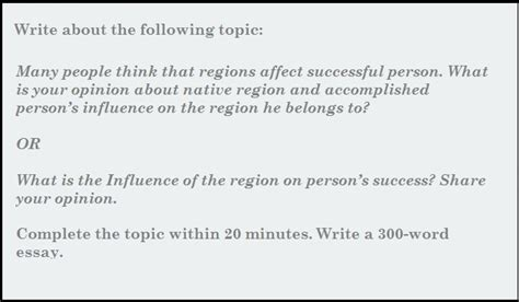 A Successful Person Essay by Pte Academic Writing Sle Essay What Is The Influence Of Region On Person S Success