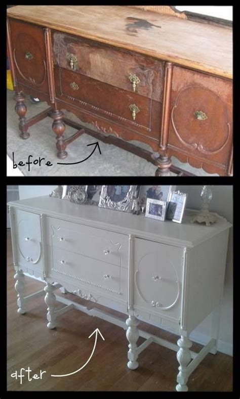 refinishing furniture ideas before and after buffet vintage furniture refinishing