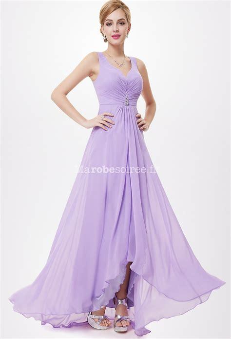 Longdress Maxi Sabrina robe de c 233 r 233 monie au d 233 collet 233 v avec coupe asym 233 trique