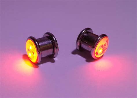 Led Light Up Ear Gauge Plug Eternity Led Light Plugs