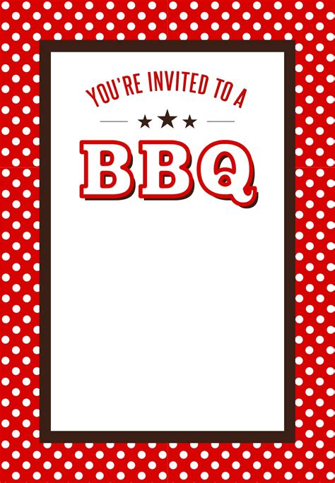 Free Printable Bbq Invitations It Resume Cover Letter Sle Invitation Template Free Printable