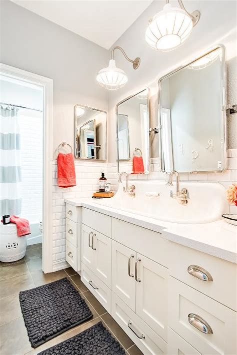 kids bathroom mirror cottage kids bathroom with built in pull out step stools