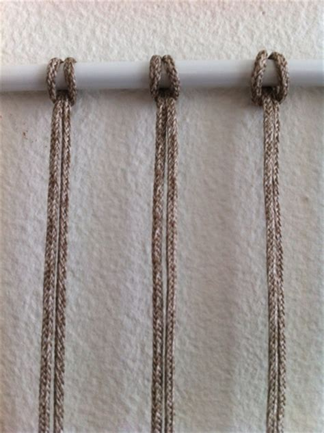 Macrame Articles - how to make 6 common macrame knots and patterns