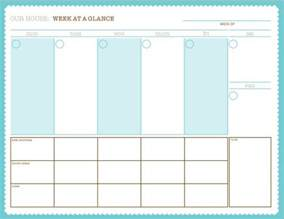 week at a glance free printable variety of calendars