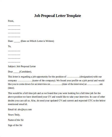 sle job proposal letter format