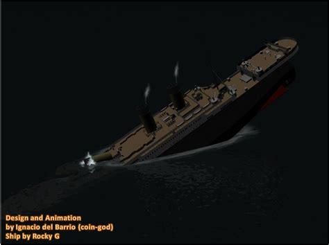 sinking ship animation titanic sinking animation image coin god indie db