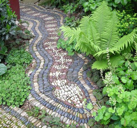30 cool pebble pathway ideas for your garden page 3 of 4