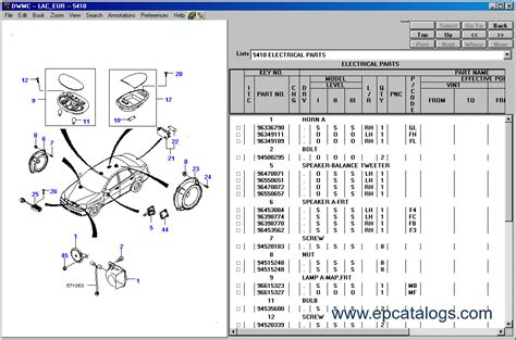 service manuals schematics 1999 daewoo nubira spare parts catalogs daewoo epc general