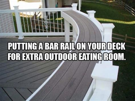 outdoor bar top railing deck railing decks