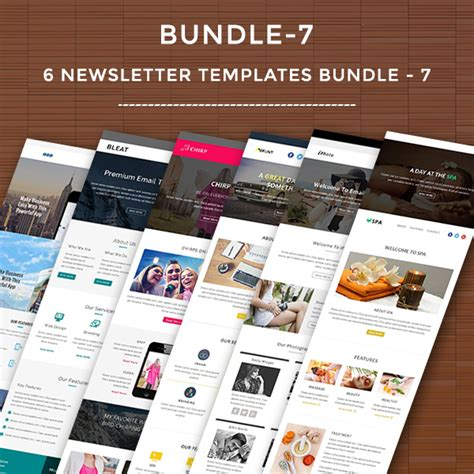 6 newsletter templates bundle 7 pennyblack templates