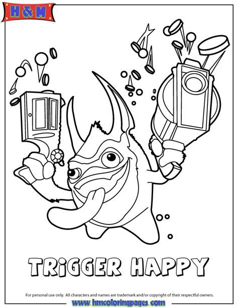 Trigger Happy Coloring Page skylanders spyros adventure tech edition trigger happy coloring page h m coloring pages