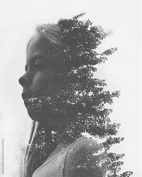 double exposure tree tutorial double exposure of girl and tree by brian powell stocksy