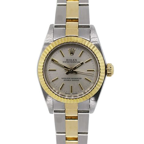 Rolex Oyster Perpetual Gold rolex oyster perpetual 67193 two tone gold