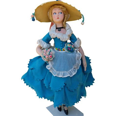 lenci italian dolls italian lenci doll from 1921 about 24 quot 61 cm from