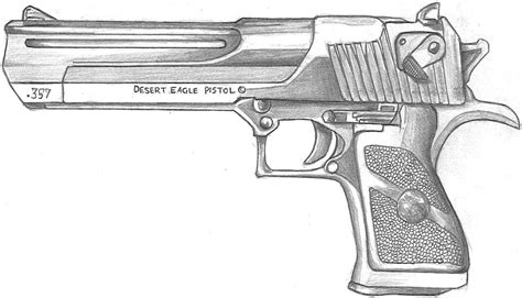desert eagle tattoo gallery drawn gun desert eagle pencil and in color drawn gun