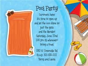 pool invitation ideas