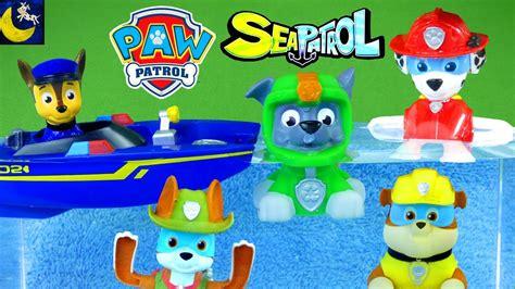 lots of paw patrol bath time toys sea patrol water - Paw Patrol Sea Patrol Bath Boat