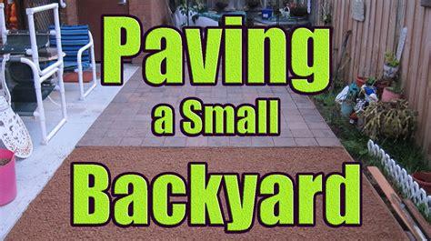 Laying Pavers on Sand or Gravel (Paving Backyard with
