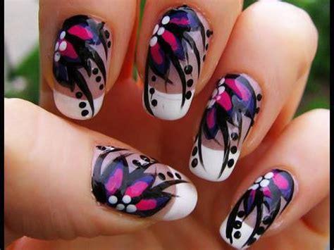 Flower Nail Art Designs Step By Step Dyrevelferdfo