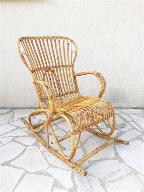 sedie a dondolo in vimini sedia a dondolo in vimini anni 60 in vendita su pamono