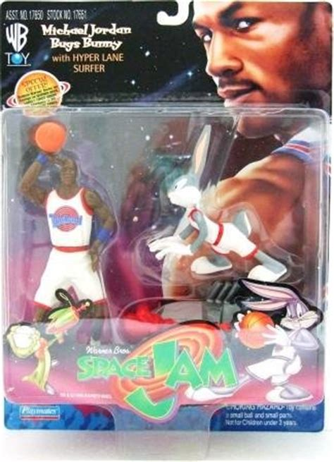 Playmates Space Jam Michael And Bugs Bunny Hyper Surfer 1997 playmates warner bros space jam figures set of 9