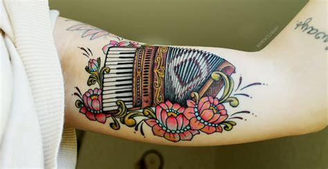 accordion tattoo my accordion done by diel at big
