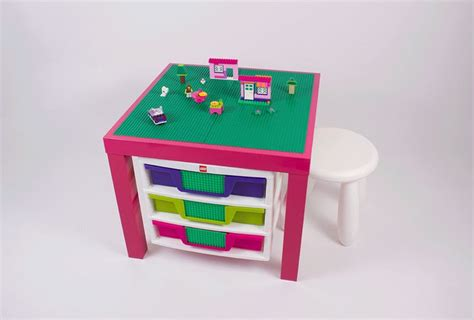 lego table with drawers pink lego table with lego storage drawers by