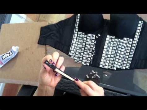 diy rock and roll layers diy guide how to make a rock roll stud covered bustier