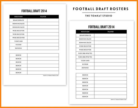 Fantasy Football Draft Sheets Blank Free Download Chlain College Publishing League Baseball Draft Sheet Template