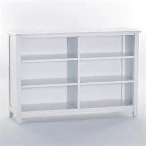 White Horizontal Bookcase Schoolhouse Horizontal Bookcase White Kids Bookcases