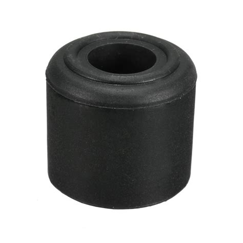 1 2pcs black white rubber door stop stopper cylinder jam