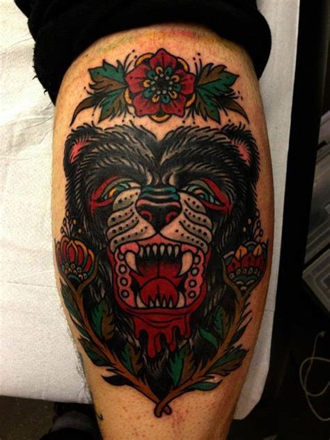 traditional bear tattoo fierce by luke jinks tattooage