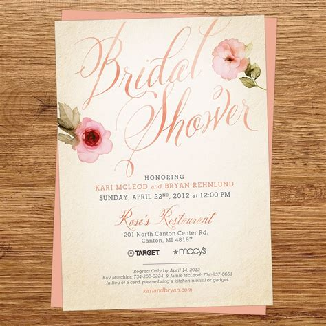 Bridal Shower Invitation by Wedding Shower Invitations Wedding Shower Invitations