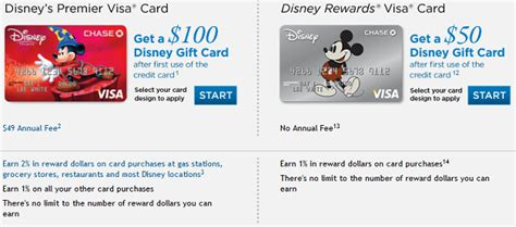 Disney Visa Gift Card Promotion - disney premier visa vs disney rewards visa